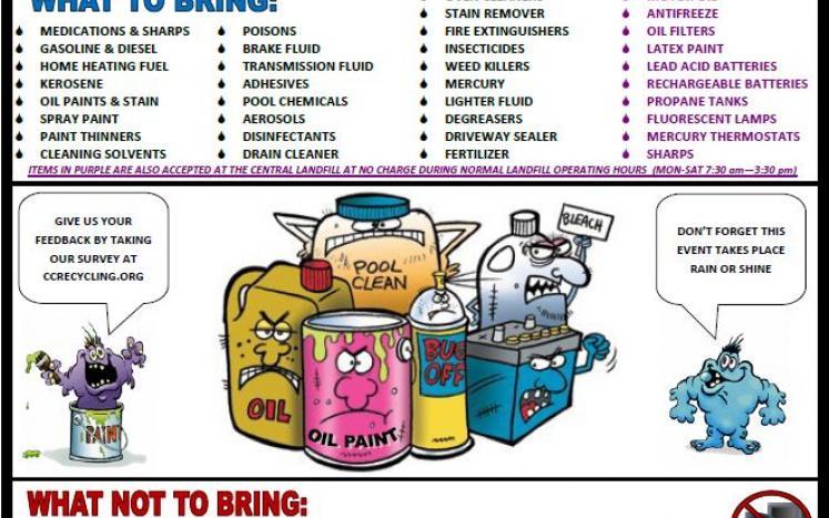 Household Hazardous Waste Day Flyer