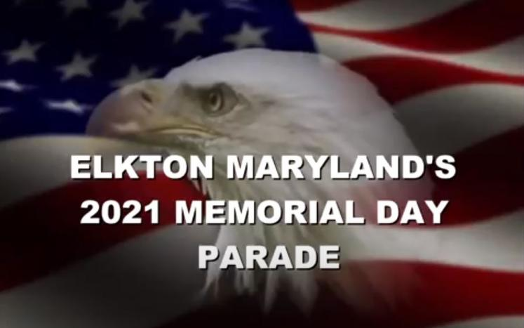 Image of Bald Eagle and American Flag - 2021 Memorial Day Parade Title Page