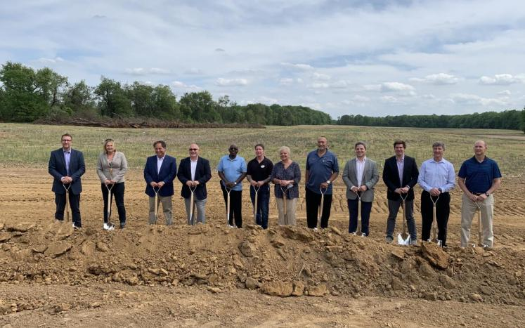 Photo of groundbreaking ceremony - Elkton Commerce Center